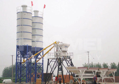 HZS35 Skip-type Concrete Batching Plant