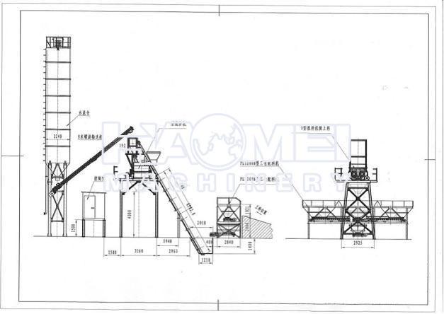 Hzs50 Skip Type Concrete Batching Plant