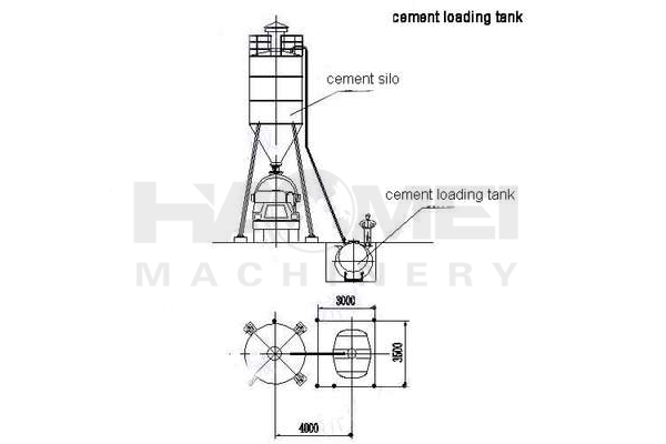 cement loading tank structure