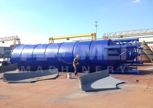 Two sets of 100T cement storage silo shipped to Paraguay