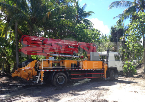 42m boom pump sent for Philippines
