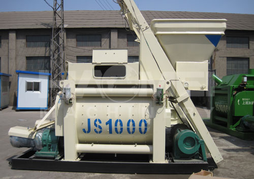 China JS1000-JS1500 concrete mixer shipped to Vietnam