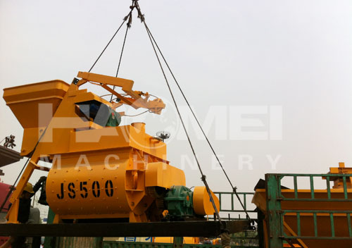 YHZS25 mobile concrete mini batching plant delivery to Algeria