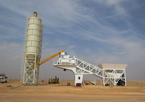 Haomei large exports of mobile concrete mixing plant in the Philippines