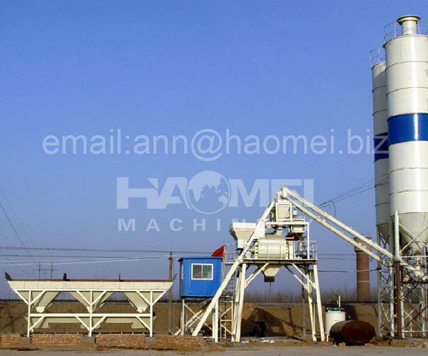 25m3/h small concrete batching plant,HZS25 Skip-type Concrete Batching Plant