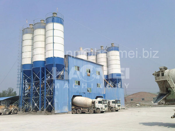 HZS90 belt conveyor concrete batching plant,compact concrete batching plant