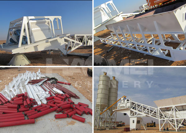 YHZS60 Mobile Batching Plant installation