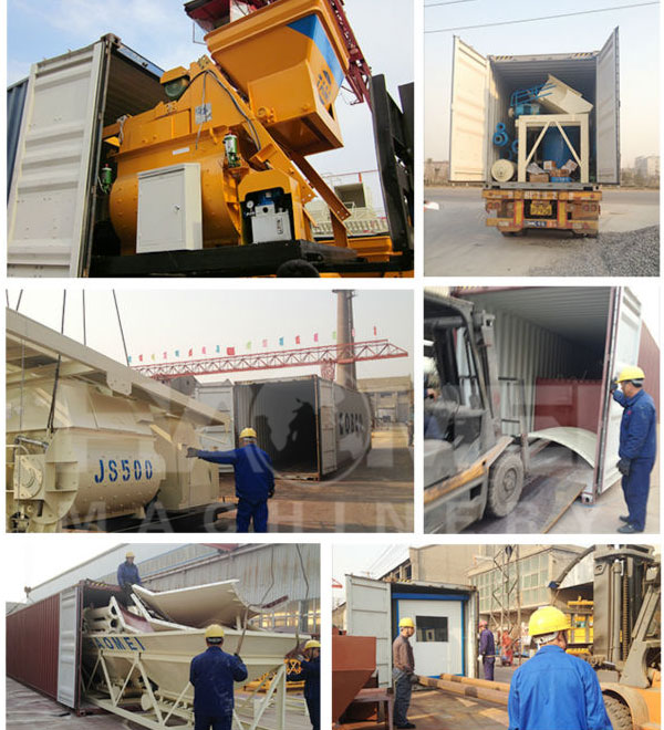 HZS90 belt conveyor concrete batching plant Packing